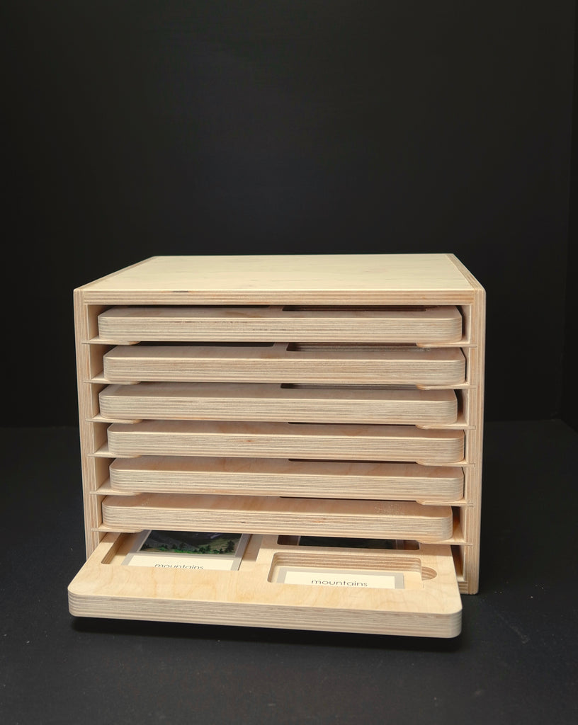 Three-Part Card Tray Cabinet