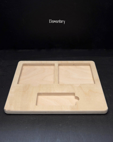 three part card tray-elementary