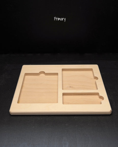 three part card tray-primary