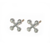 Hexagonal Cross Cufflinks