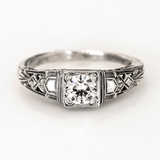 Jemma Art Deco Engagement Ring