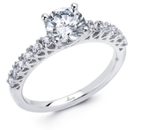 18k White Gold Engagement Ring - 046