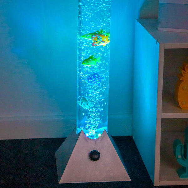 Sensory Colour Changing Bubble Lamp with Fish - 90cm
