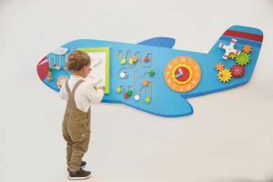 Large Aeroplane Activity Wall Panel