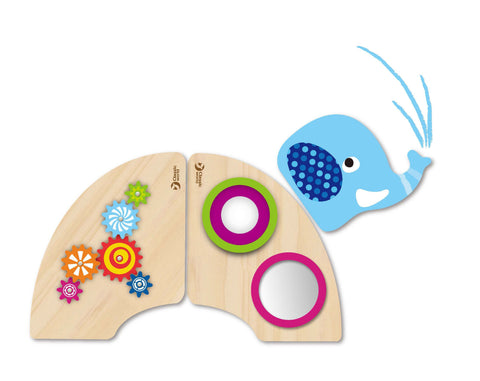 Elephant Mirrors & Gears Wall Panel Set