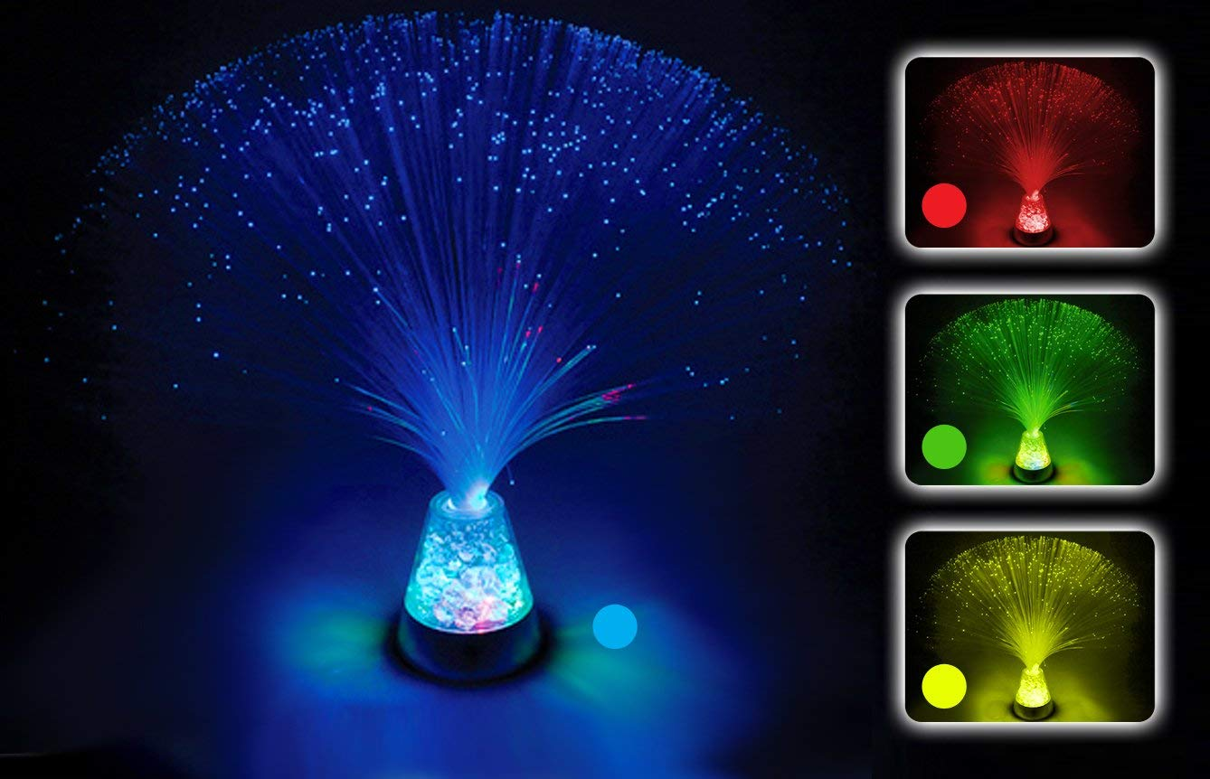 Crystal Base Fibre Optic Colour Changing Lamp