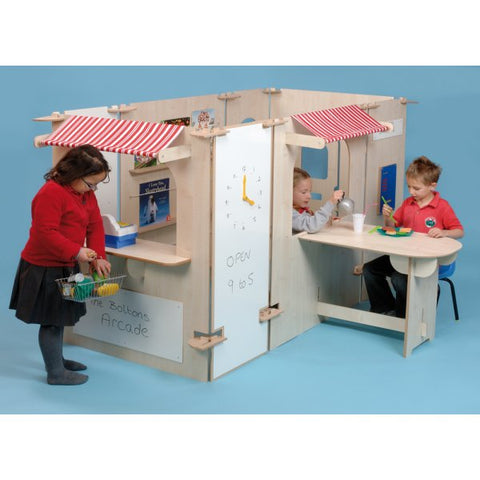 Shopping Centre Play Panel Set - Natural Wood or Multi-colour