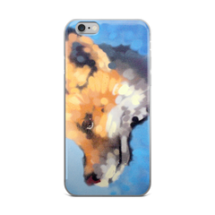Fox on Blue Phone Case