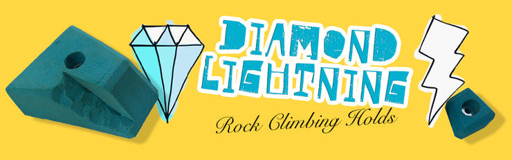 Diamond Lightning Climbing Holds!