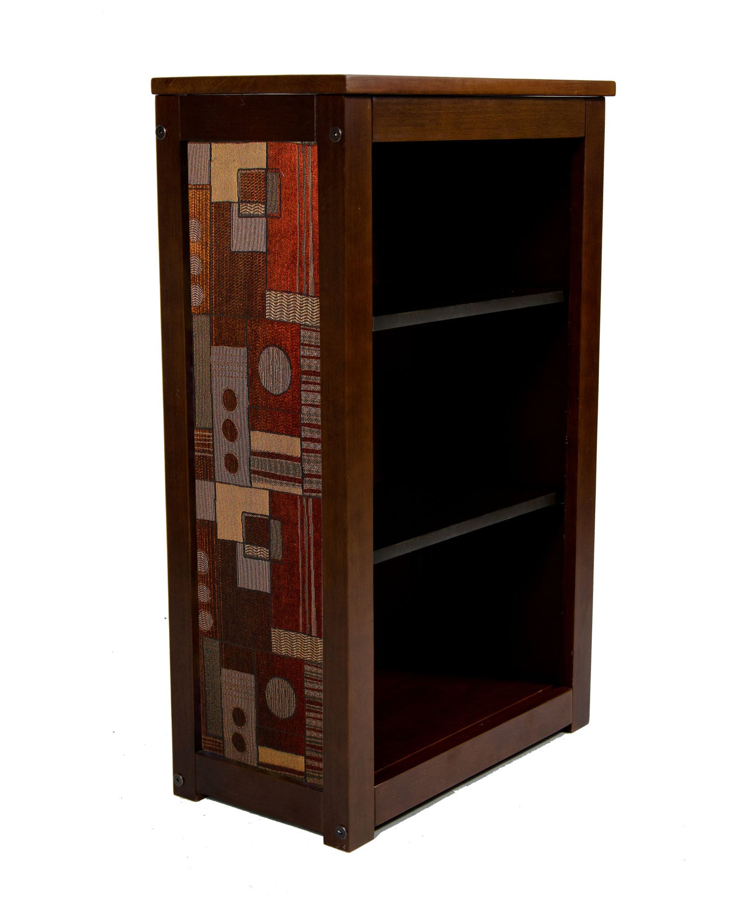 Book Cabinet with Ginger Fabric