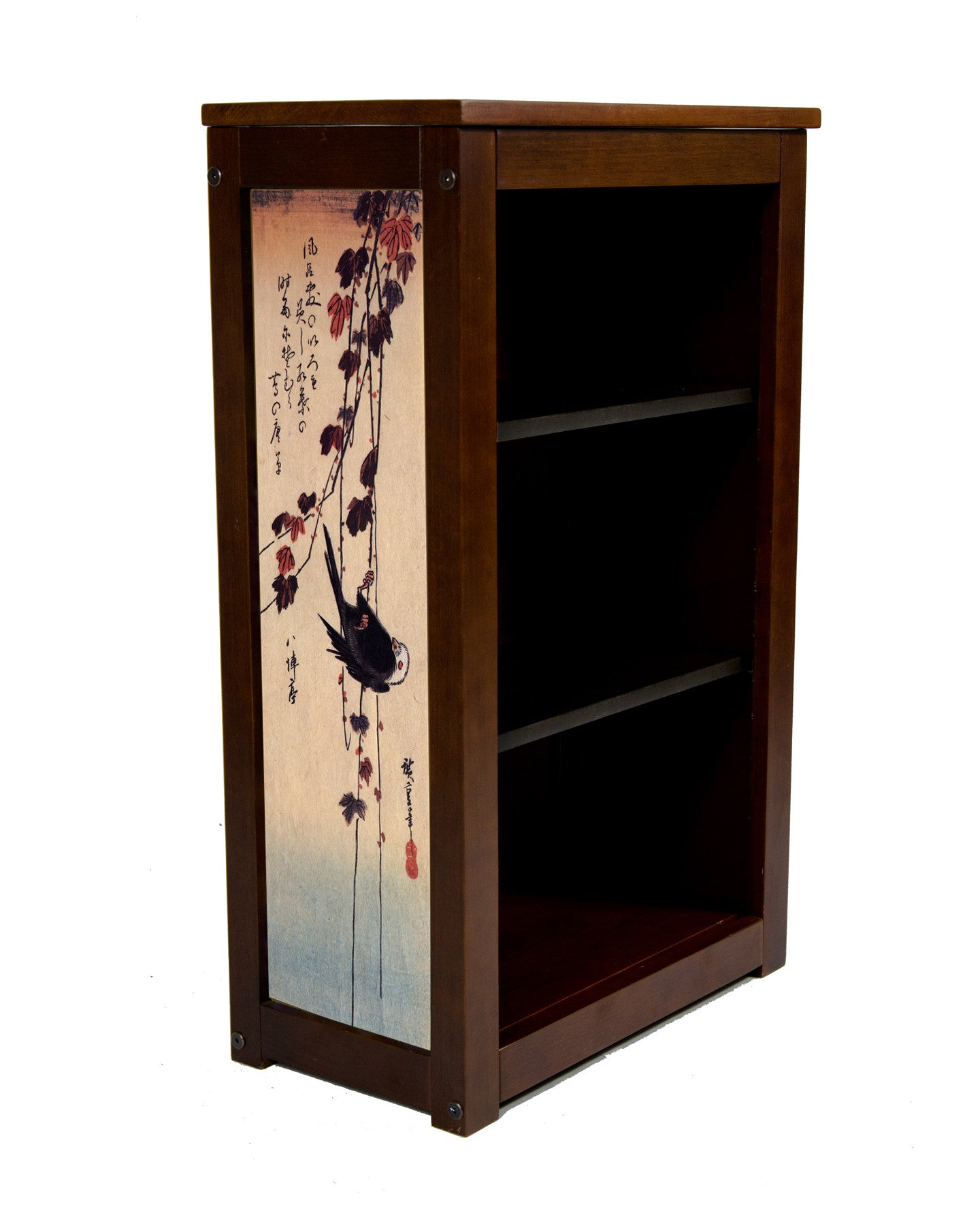 Book Cabinet with Black Bird hanging on ivy by Hiroshige
