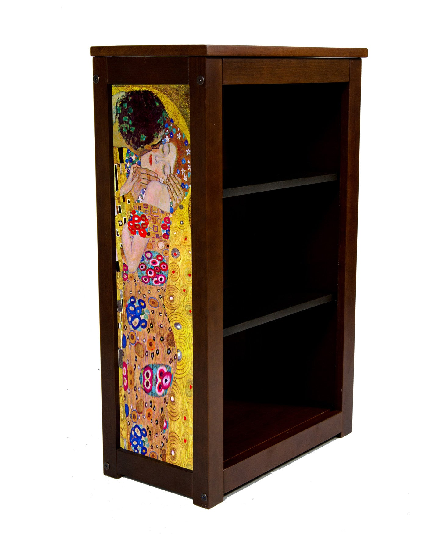 Pine Book Cabinet with The Kiss by Klimt