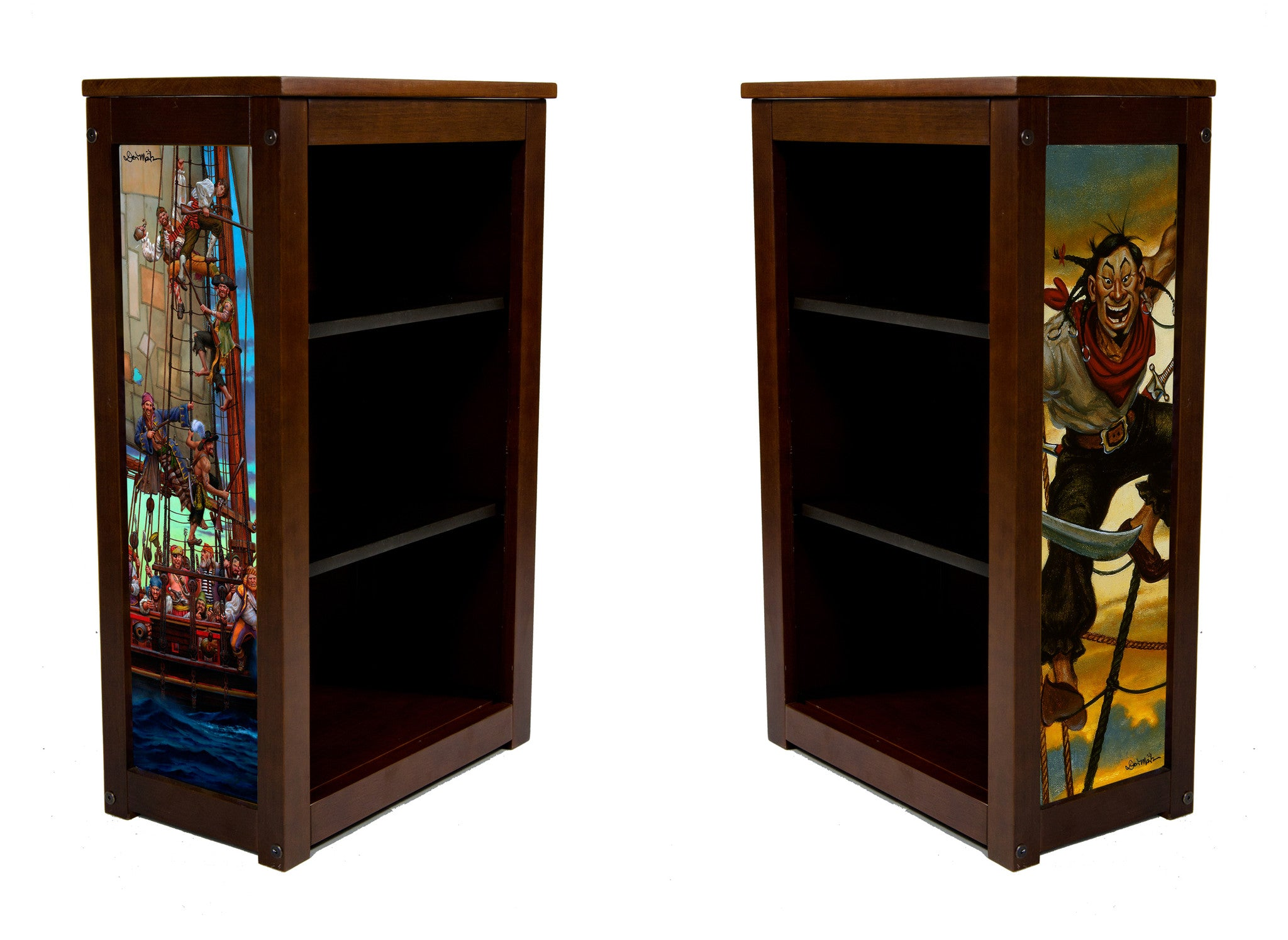 Book Cabinet-3 shelf-Forty Thieves & Yard Rats-Art by Don Maitz