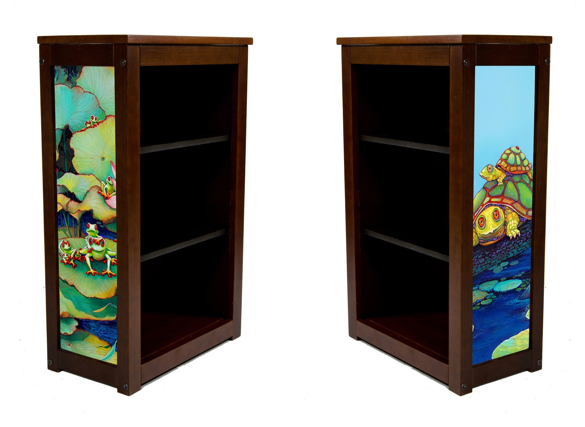Frog Theme Book Cabinet called Party on the Pad by Lary McKee