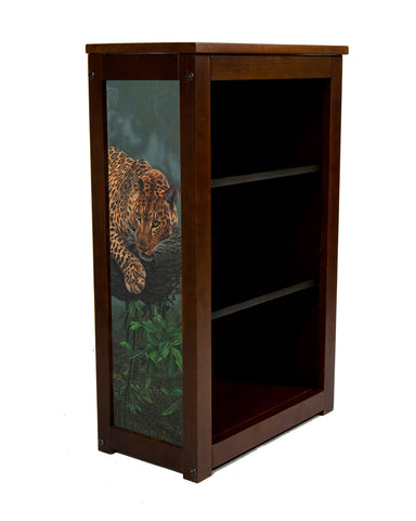 Adam Smith Book shelf with Leopard in Tree