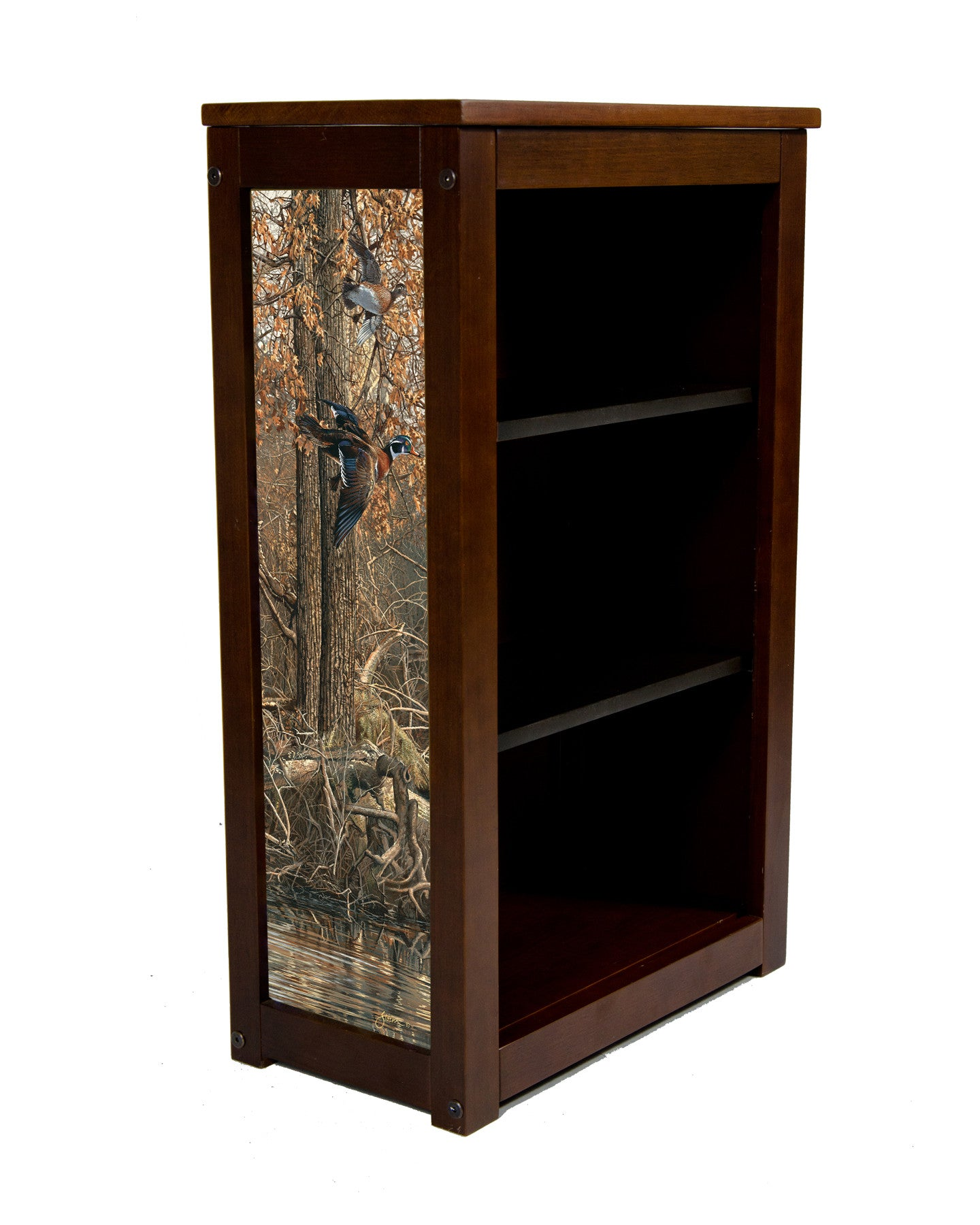 Book Cabinet with La Grue Woodies by Scott Storm
