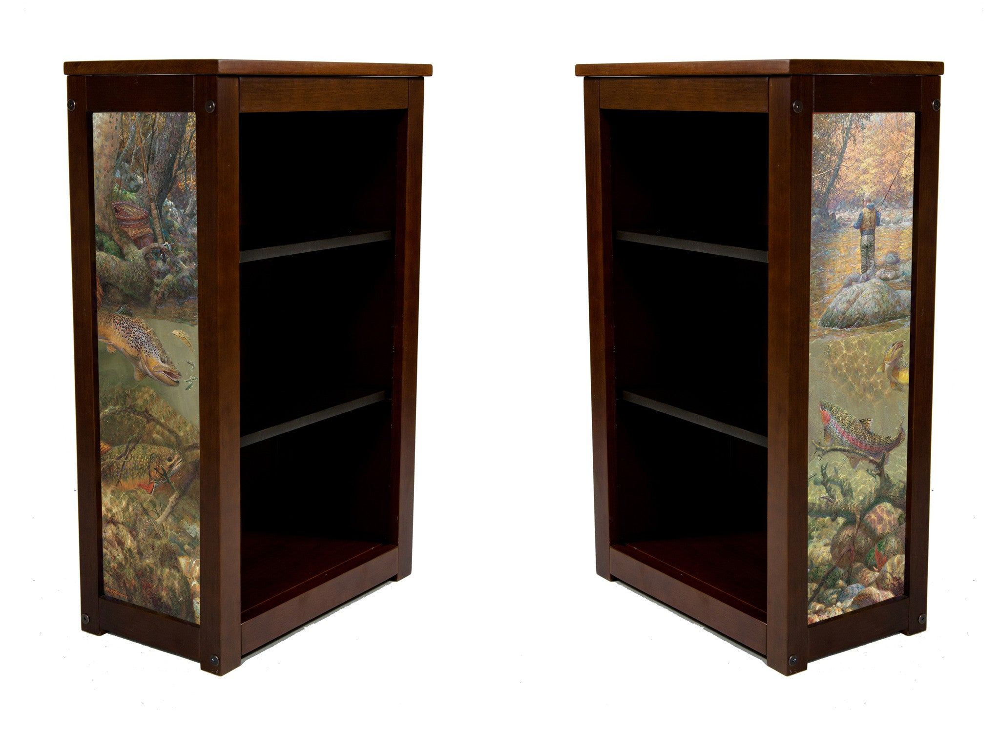 Fly fishing Book Cabinet  with Autumn Dream Day by Sussinno