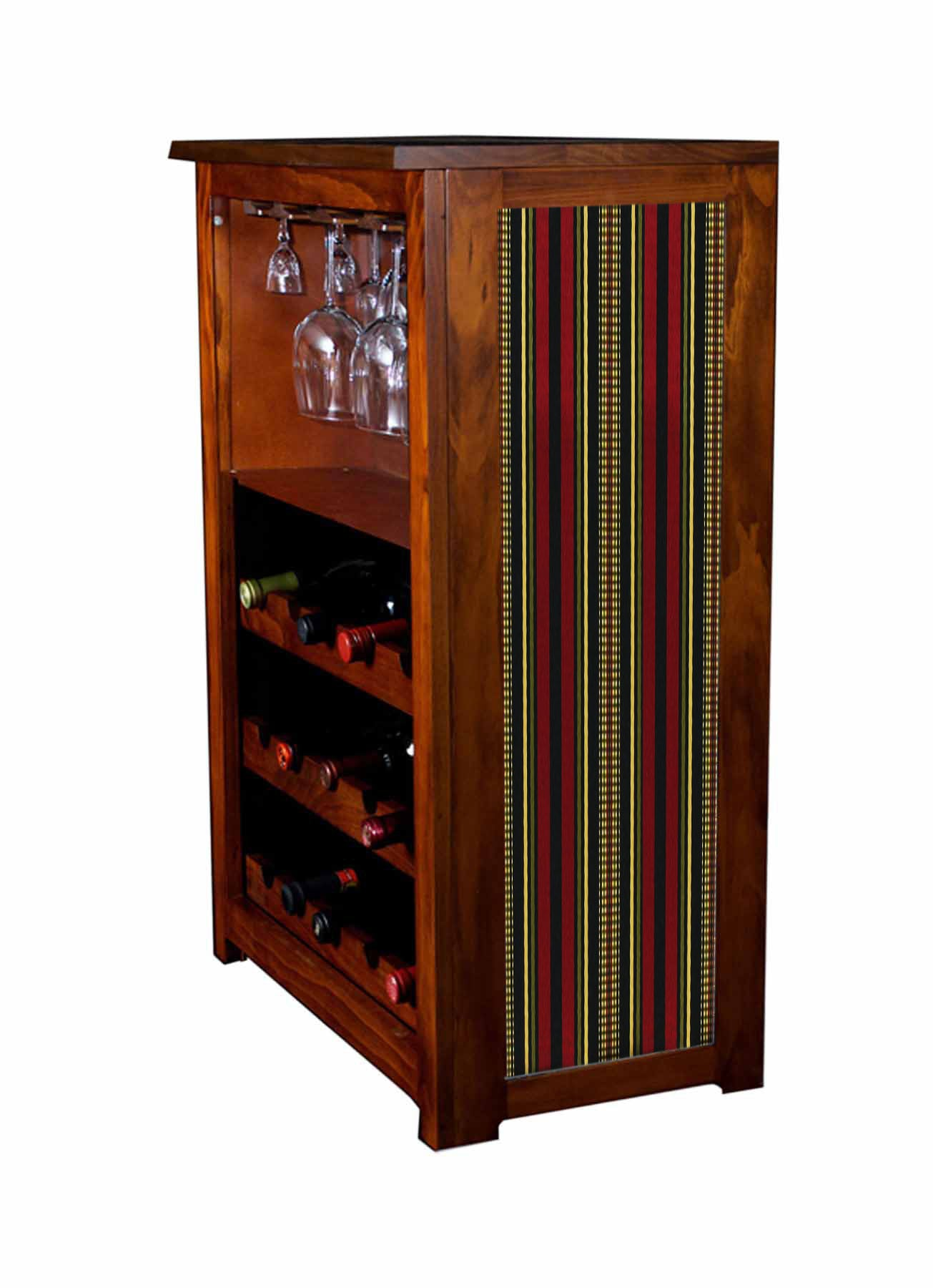 Wine Cabinet with Channing fabric
