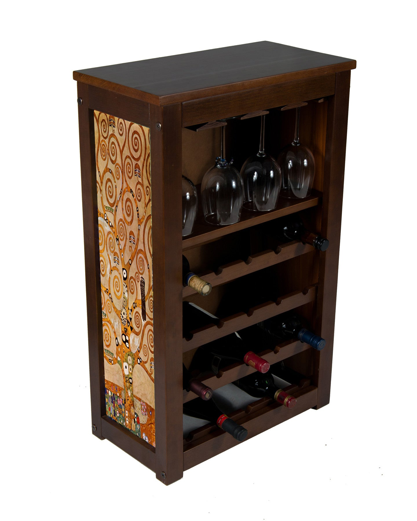 Wine Cabinet 15 - 4 Racks - Daybreak Whitetails - Millette