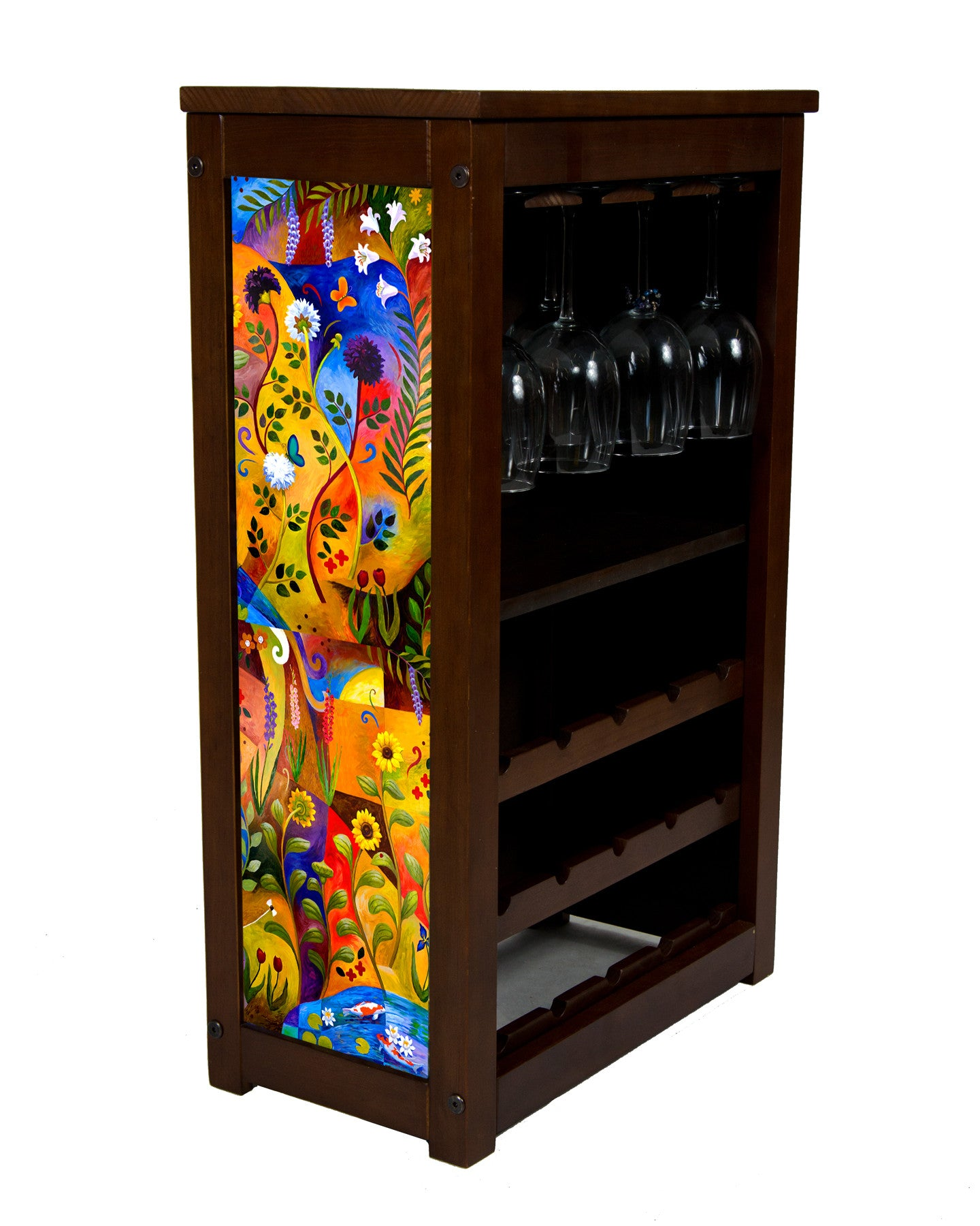 Garden of healing wine cabinet by Kim Drew