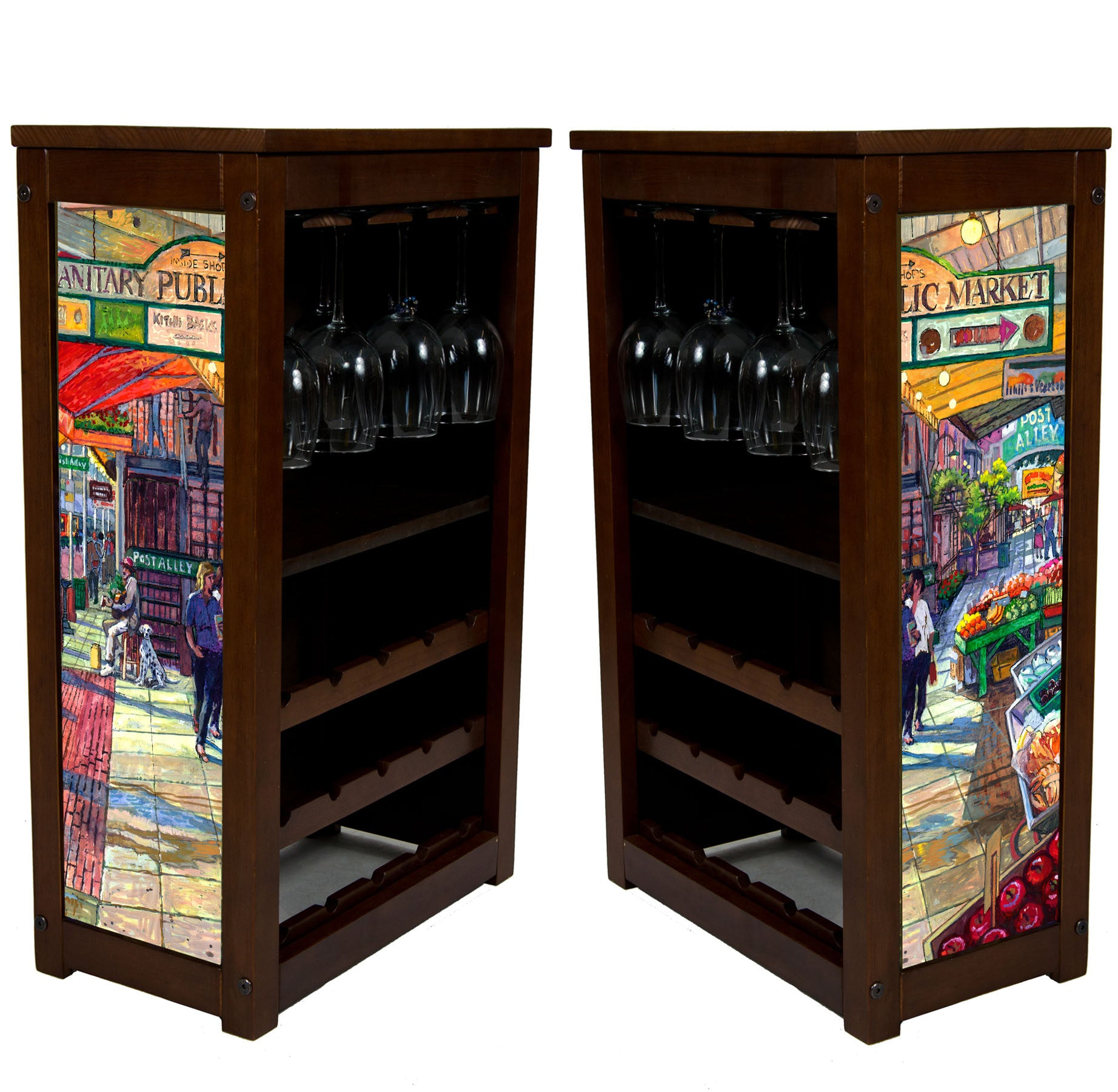 Pike Place Market Wine Cabinet by Kim Drew called Post Alley