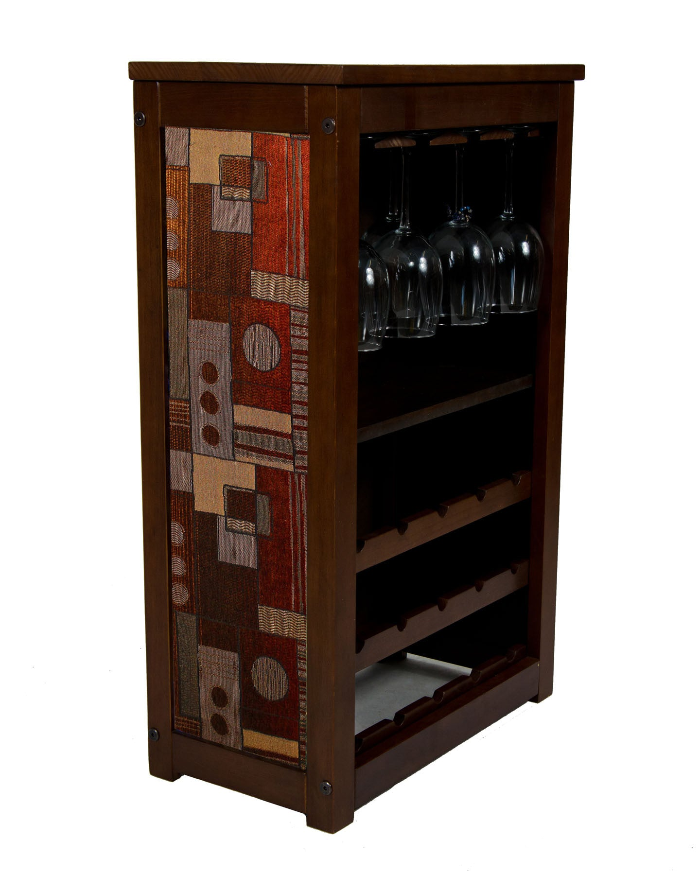 Wine Cabinet 15 bottles, Ginger fabric pattern