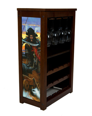 Blackbeard the pirate wine cabinet