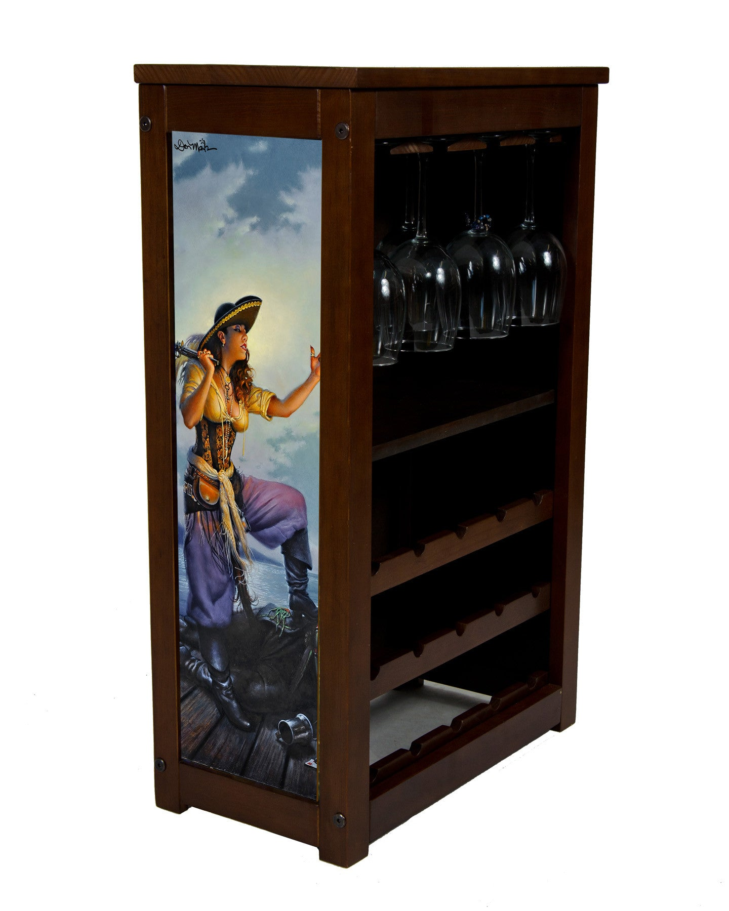 Booty Wine Cabinet by Don Maitz
