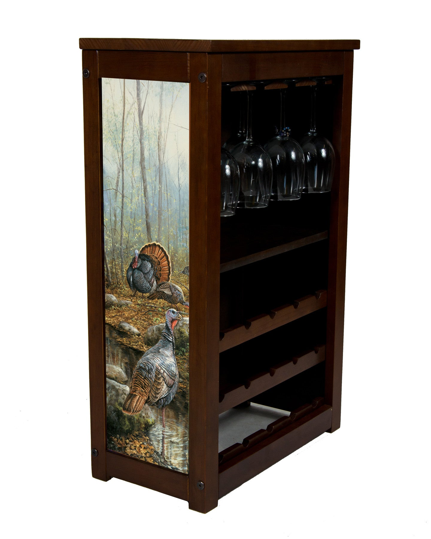 Wine Rack with Wild turkey