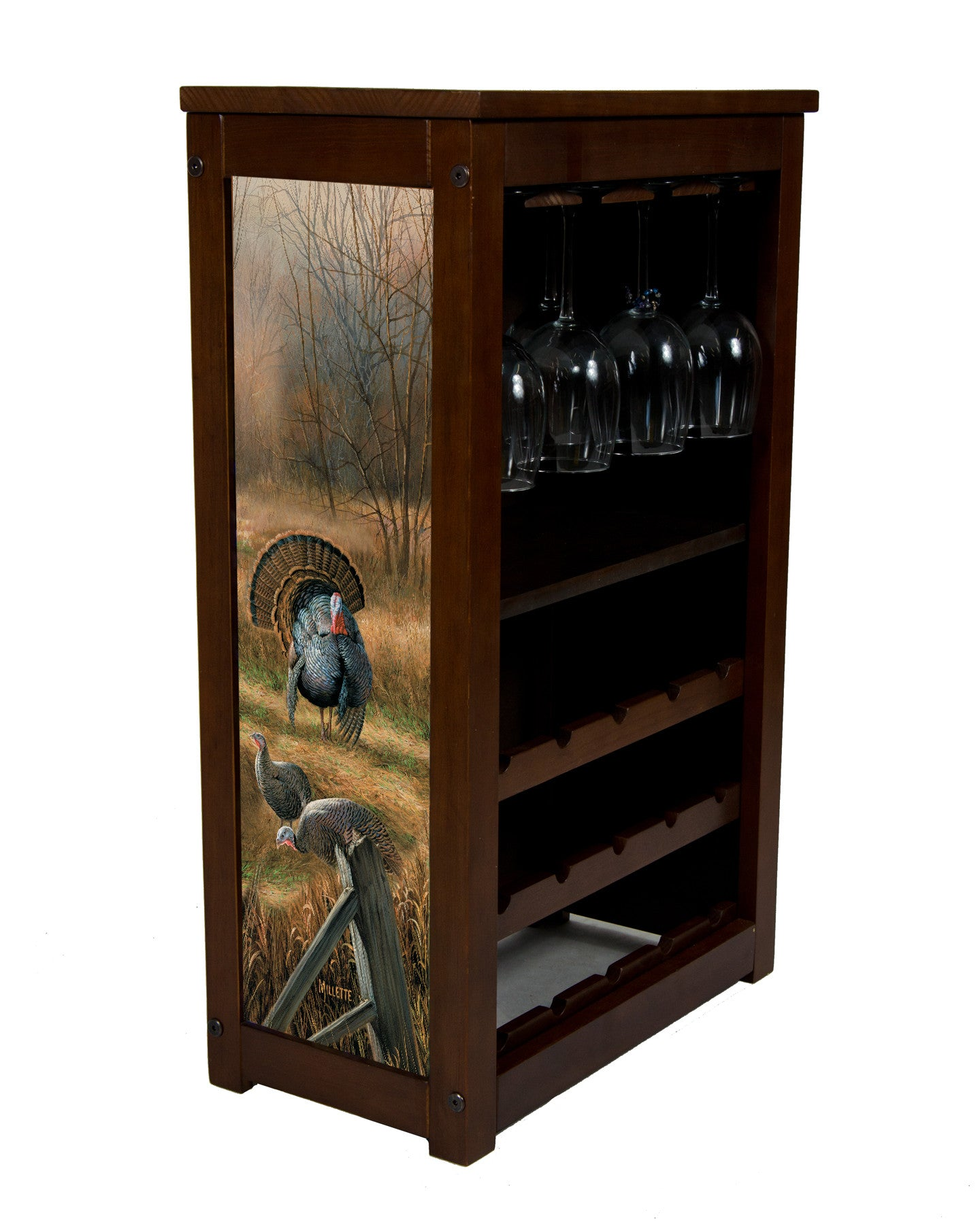 Wild Turkey wine rack
