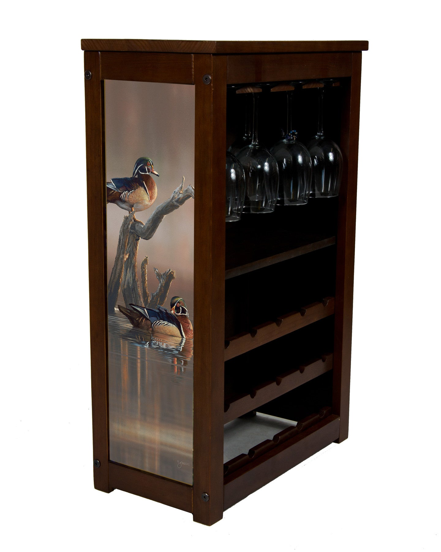 Wood Ducks and Wine Cabinet by Scott Storm