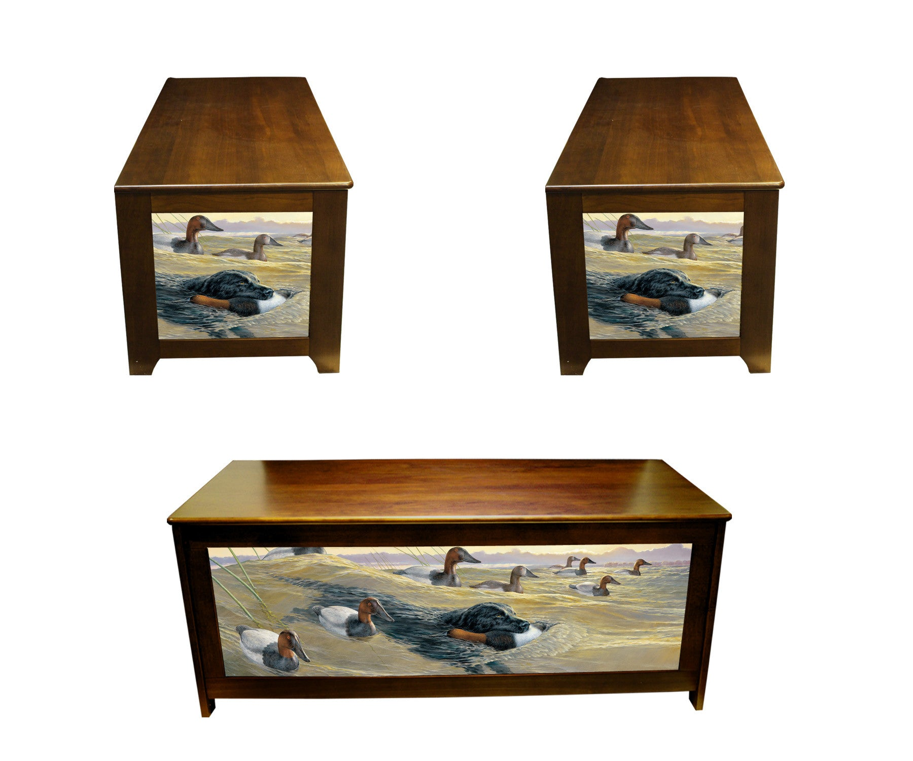 blanket chest with AT HIS BEST by Van Gilder