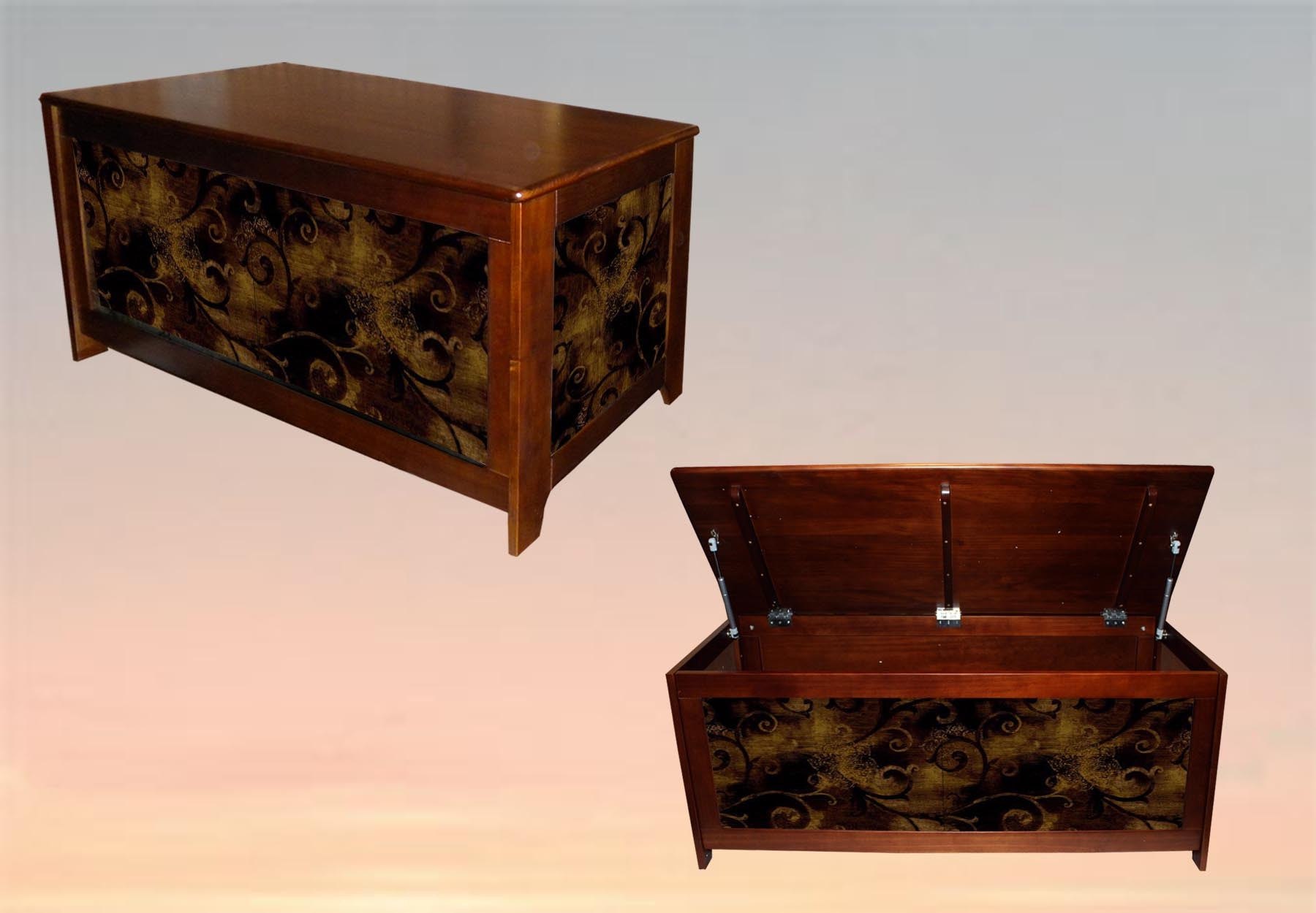 "Blanket chest ""iron leaf Scroll"""