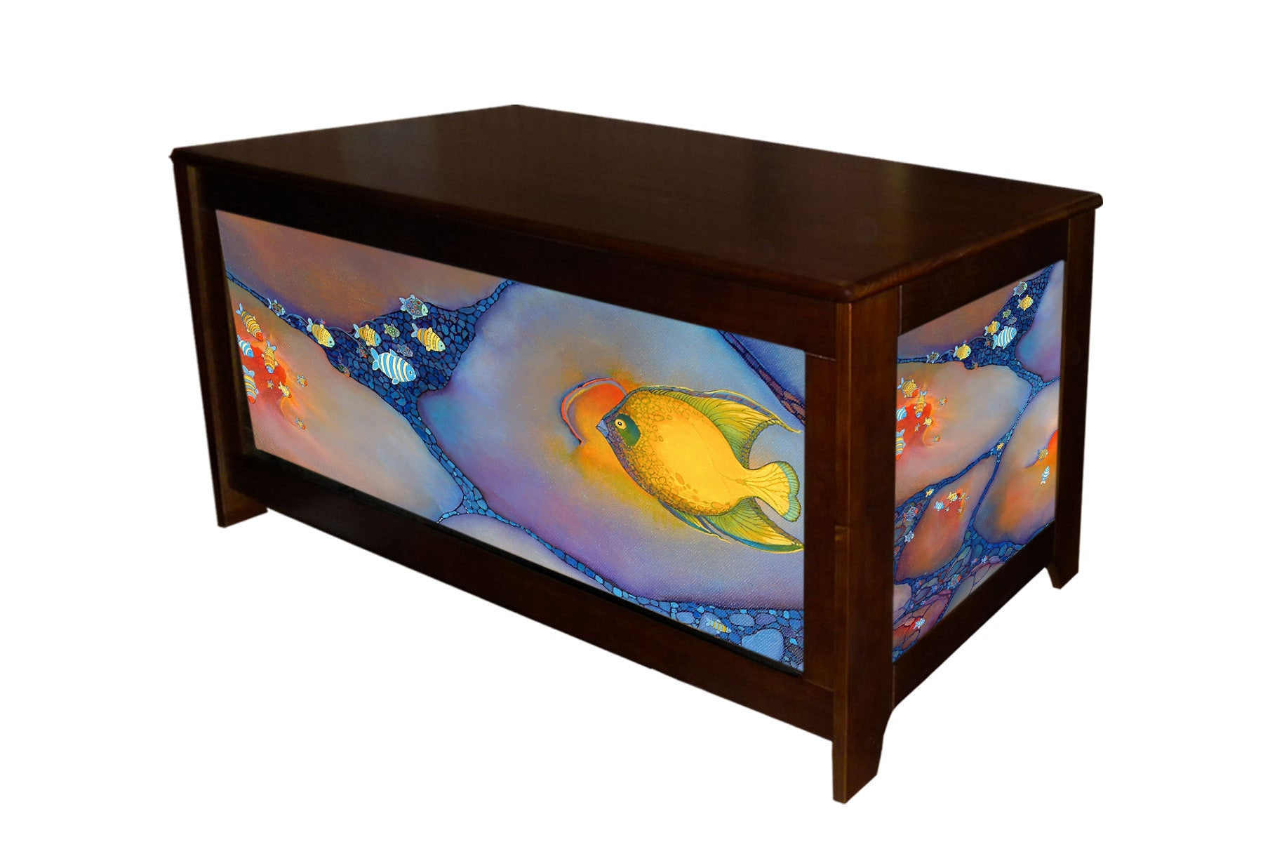 Lary McKee tropical fish hope chest