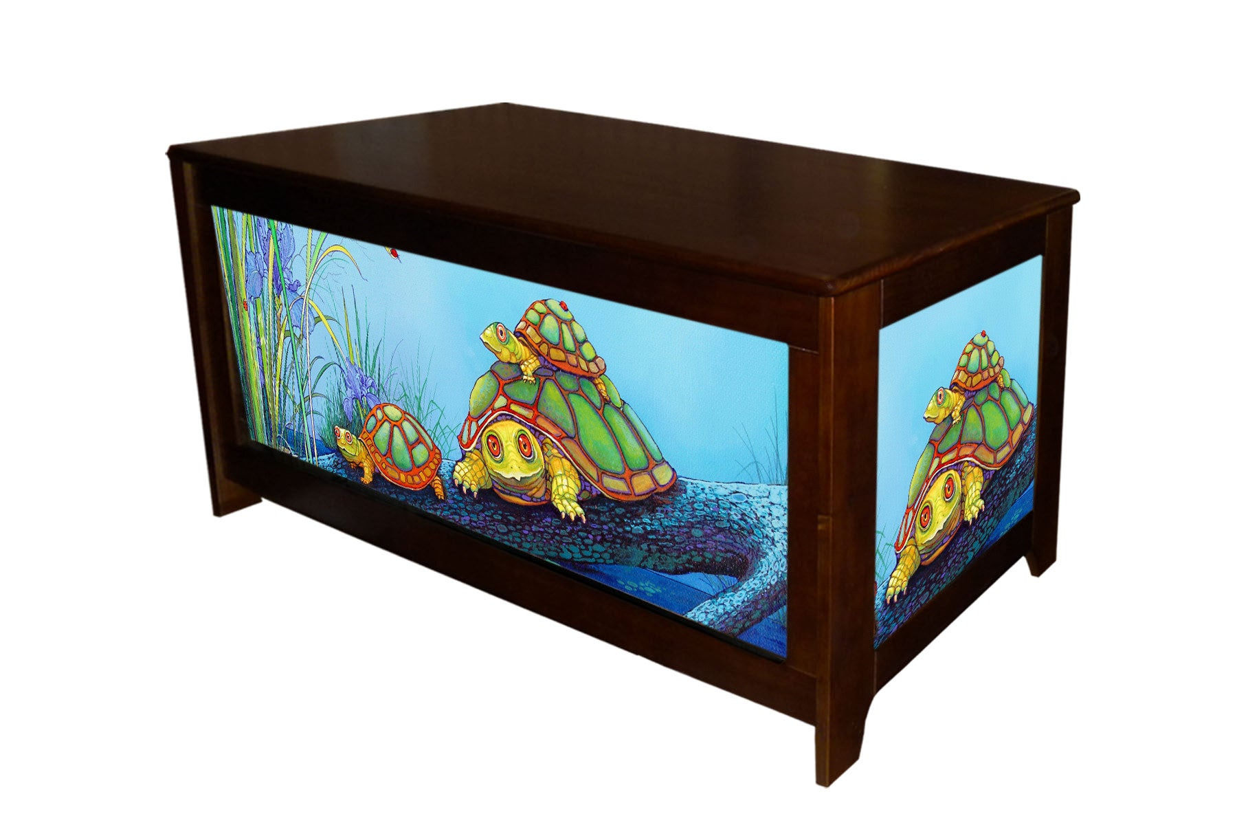 Turtle Hope chest with Murtle the Turtle by Lary McKee