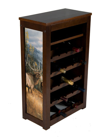 Elk wine cabinet ! 25 bottles and shelf | Meadow Music