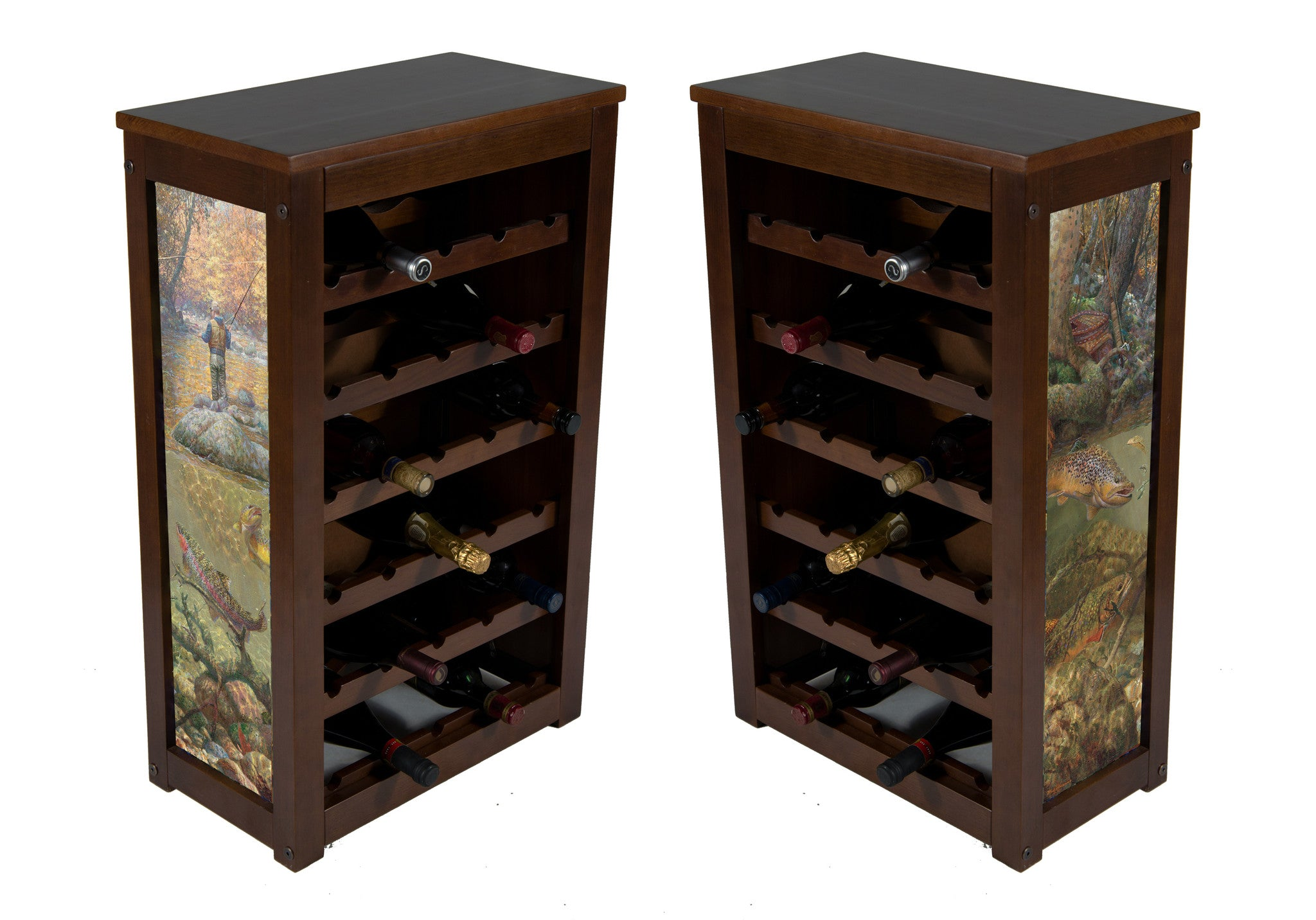 Wine cabinet 25 bottles Autumn Dream Day by Mark Sussino