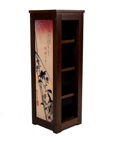 Chinese bell flower and reed pedestal table by Hiroshige