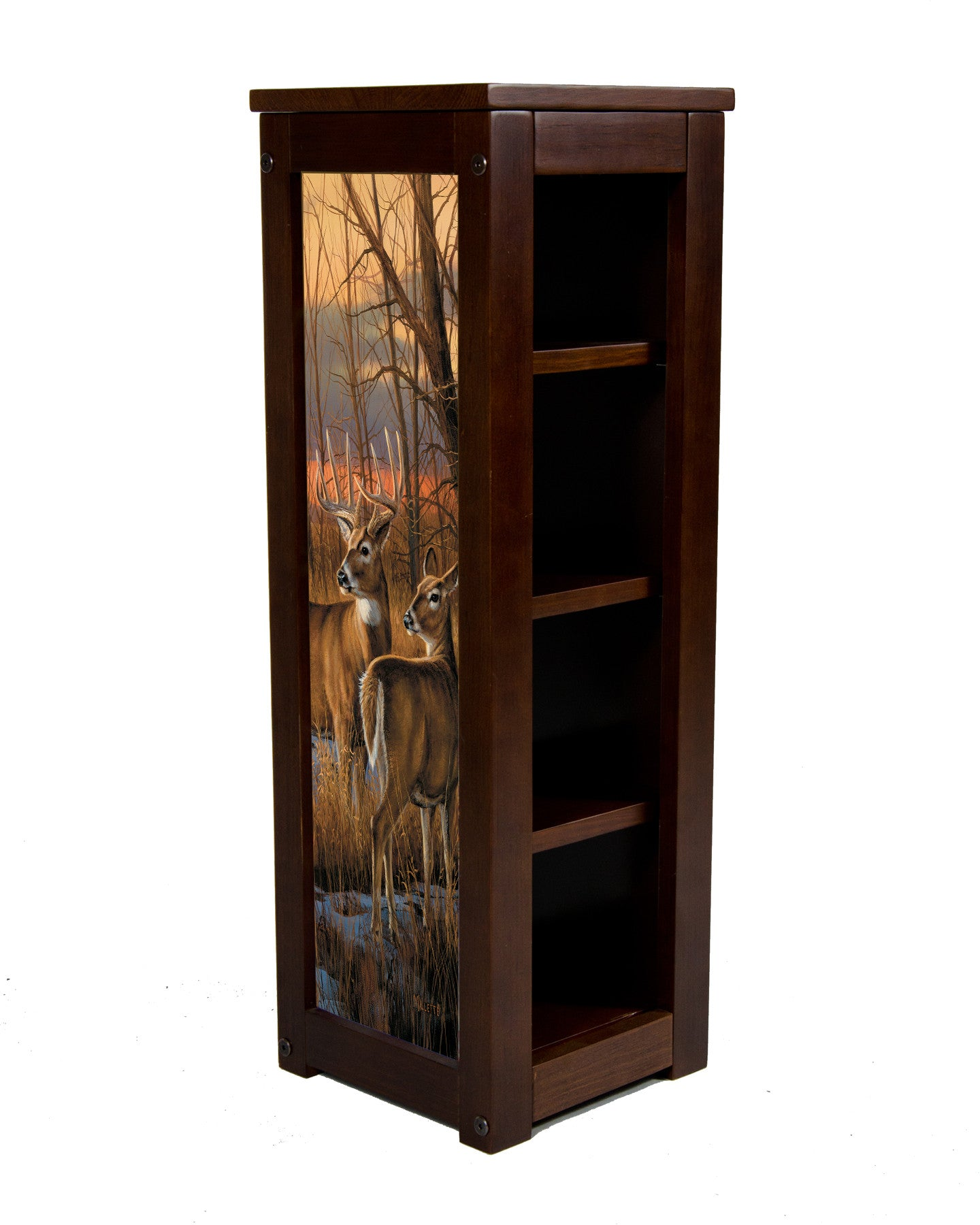 Pedestal Stand-Daybreak Whitetails-Rosemary Millette