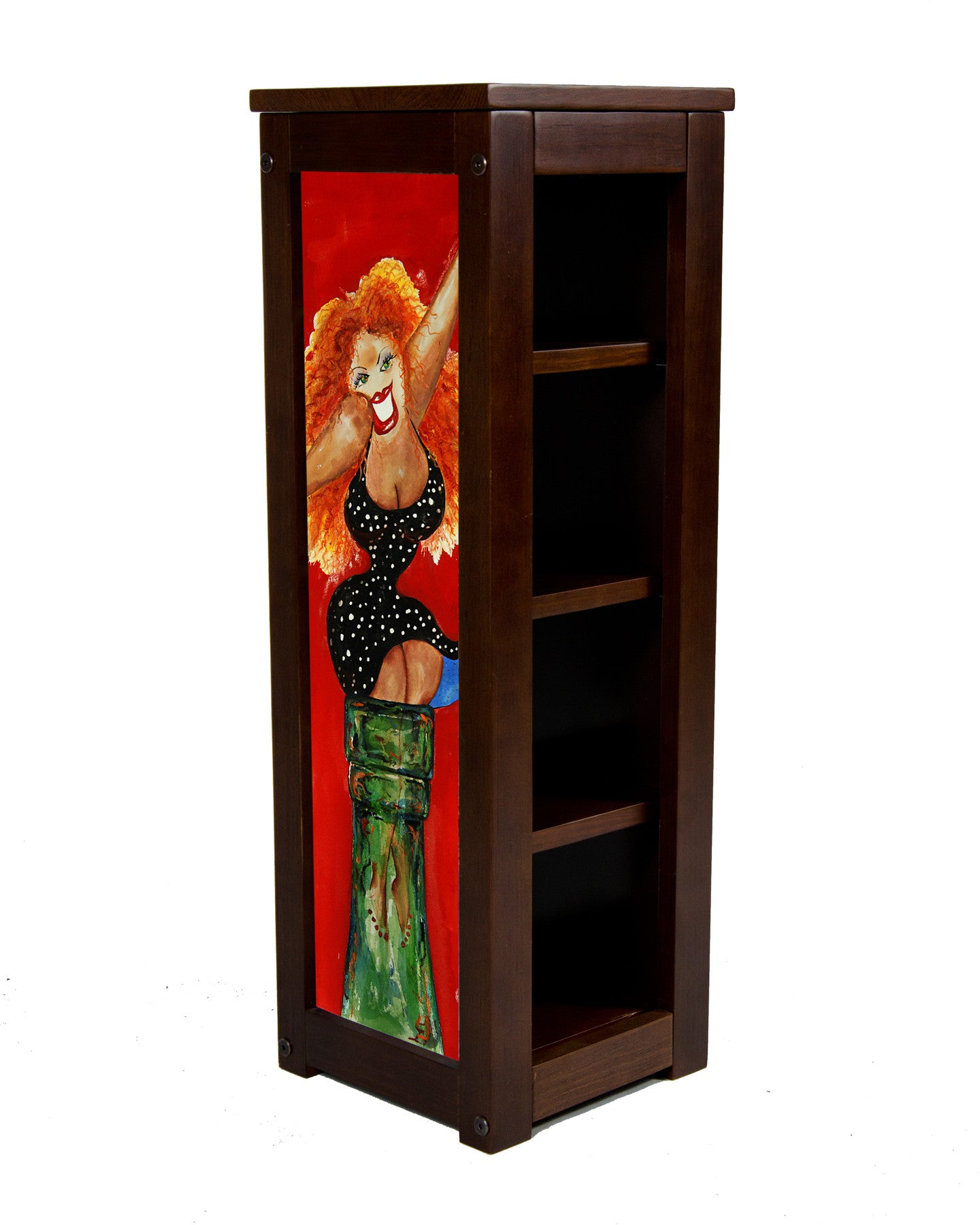 Statuary display stand with Big Red by Jill Neal