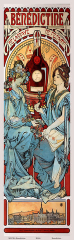 Benedictine Giclee Print by Mucha