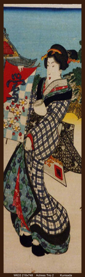 Kunisada Print of Actress 2 of the actress trio
