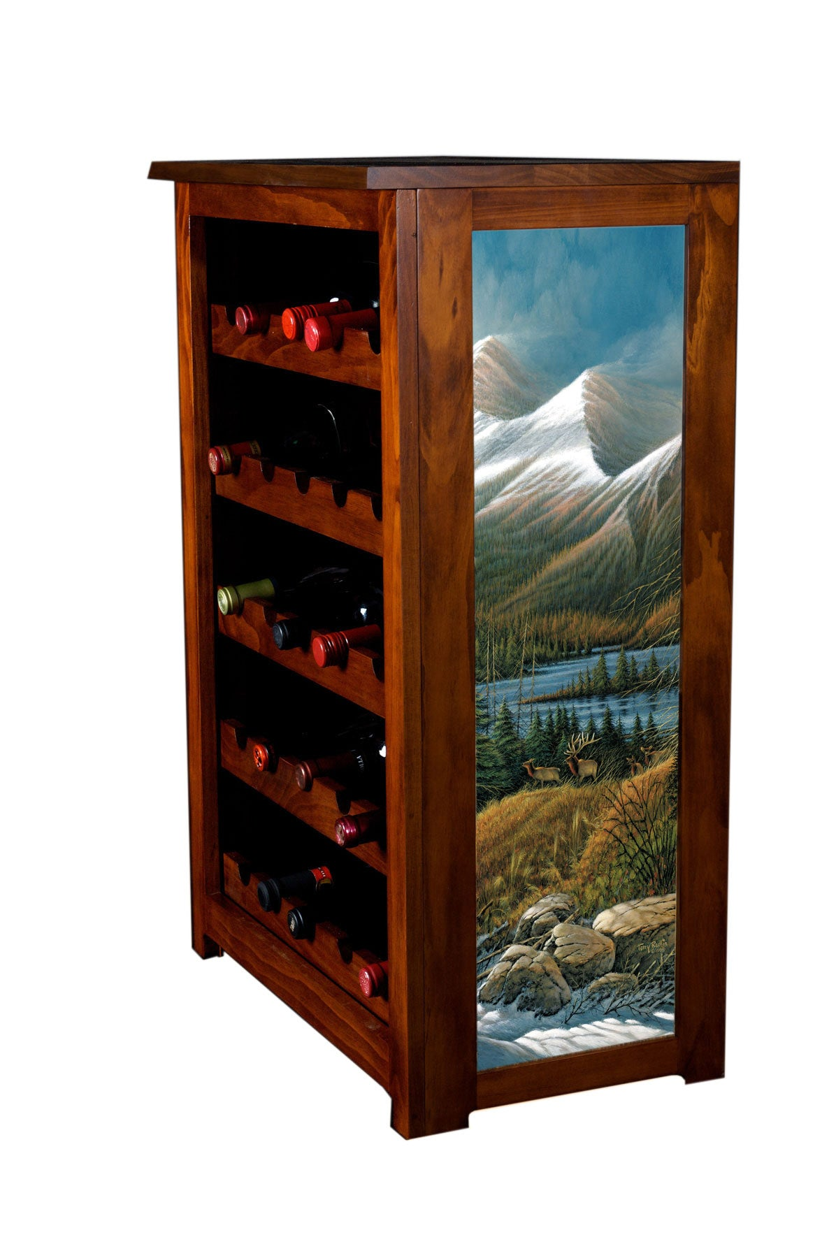 Wine Cabinet, Master of the Valley, Terry Redlin