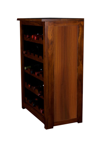 Wine Cabinet,Wood Grain Finish