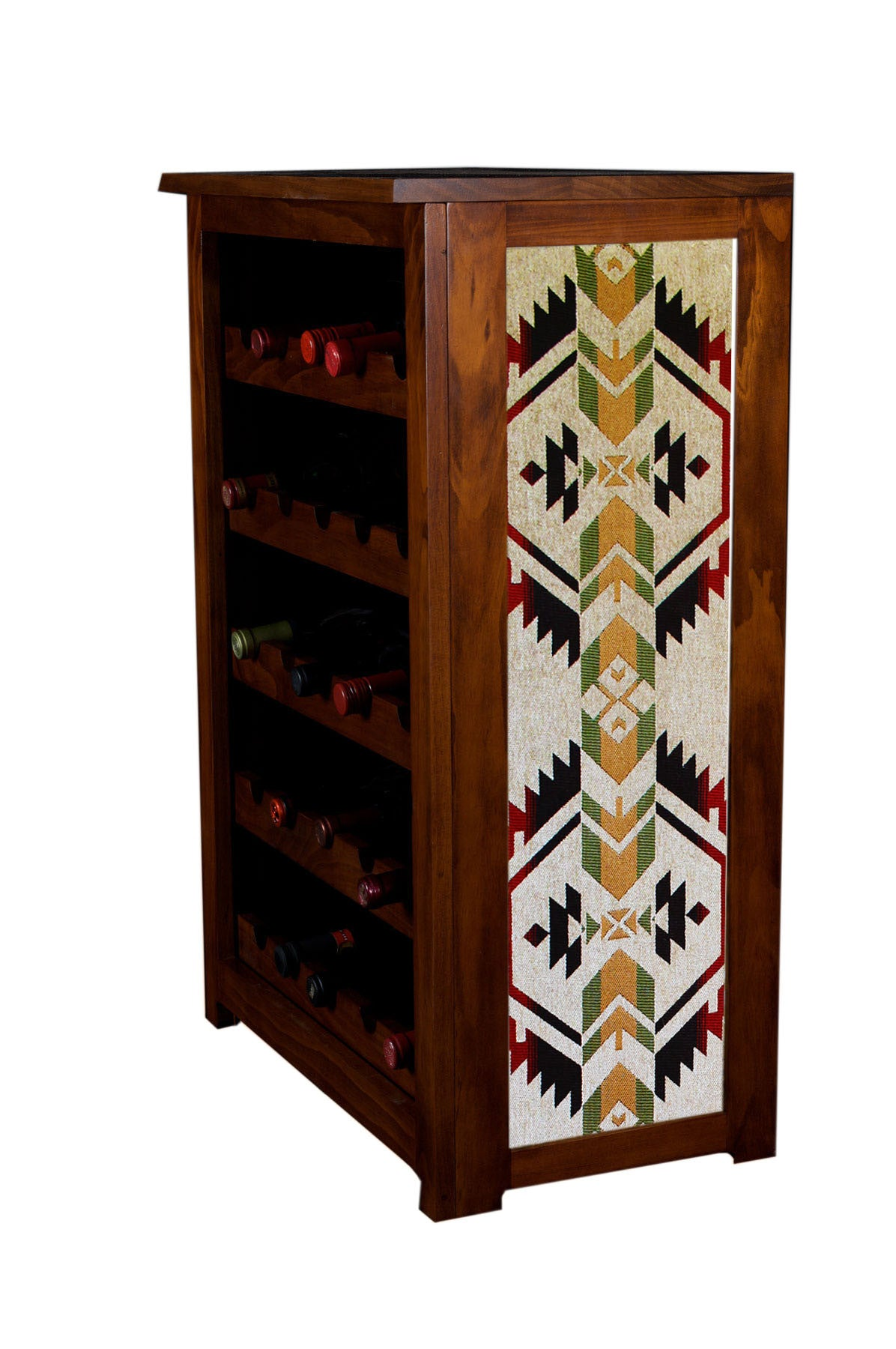 Coyote pattern wine cabinet