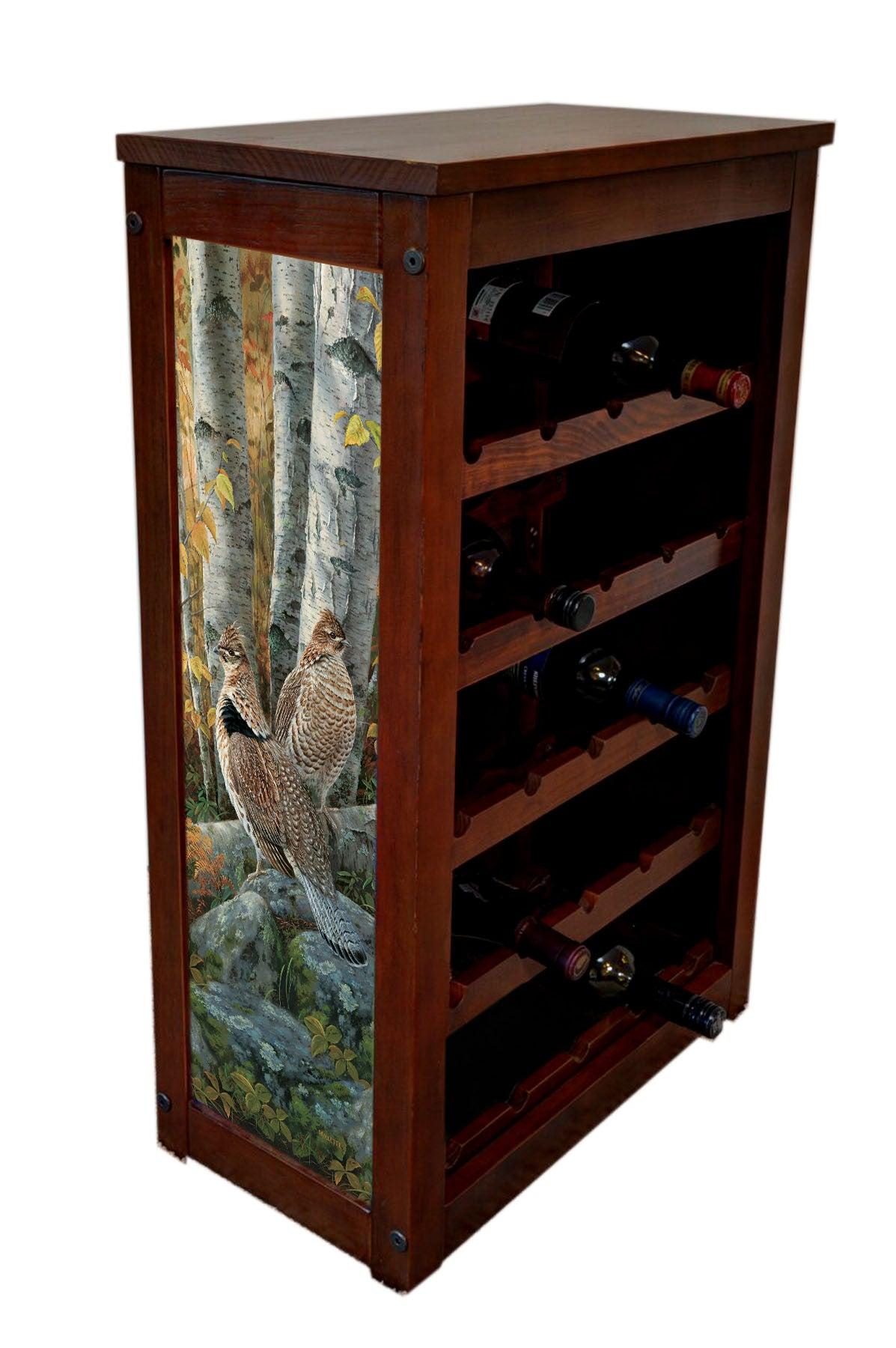 Ruffed Grouse Wine Cabinet