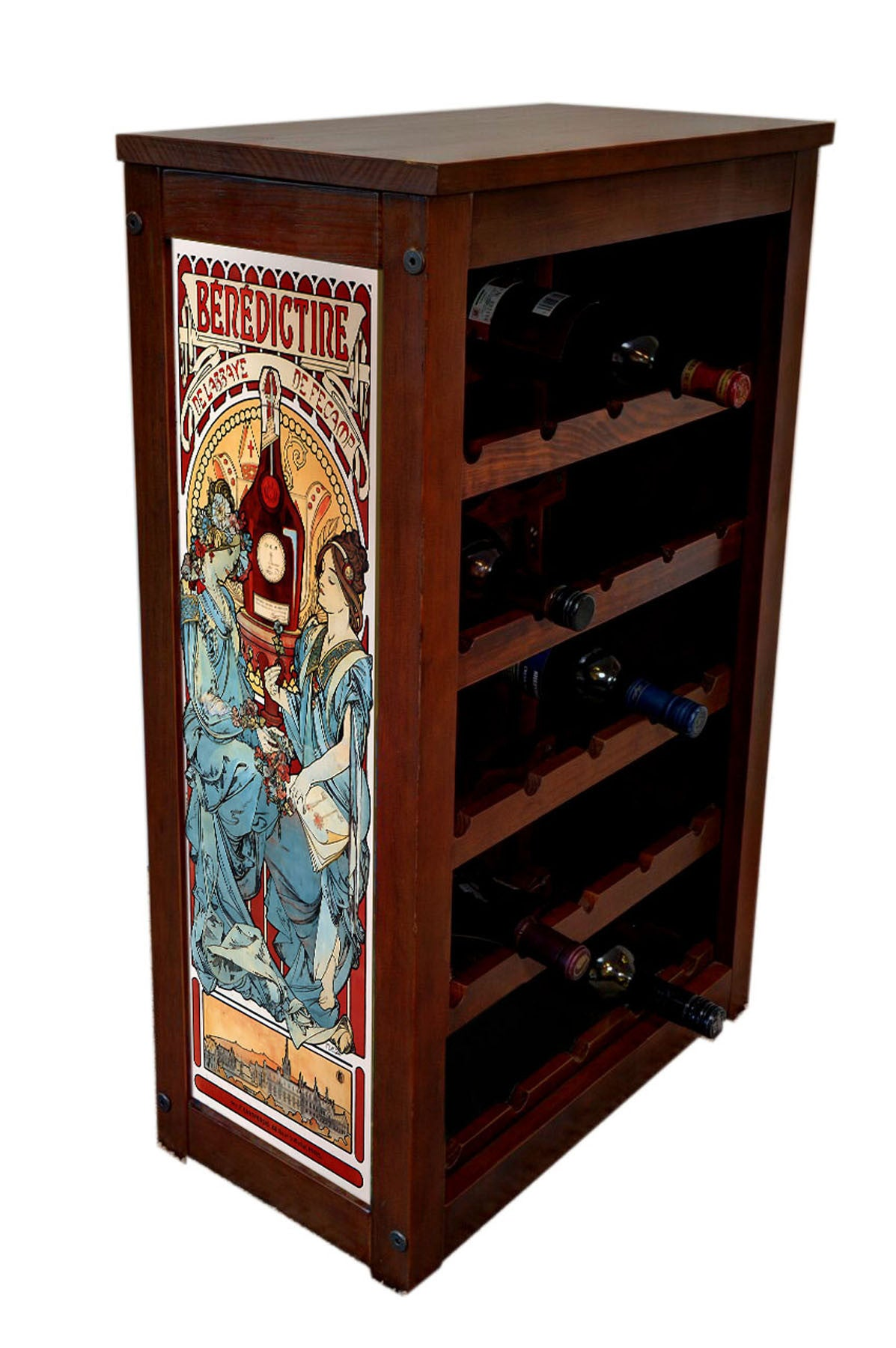 Benedictine liquor Cabinet-25 Bottle by Alphonse Mucha