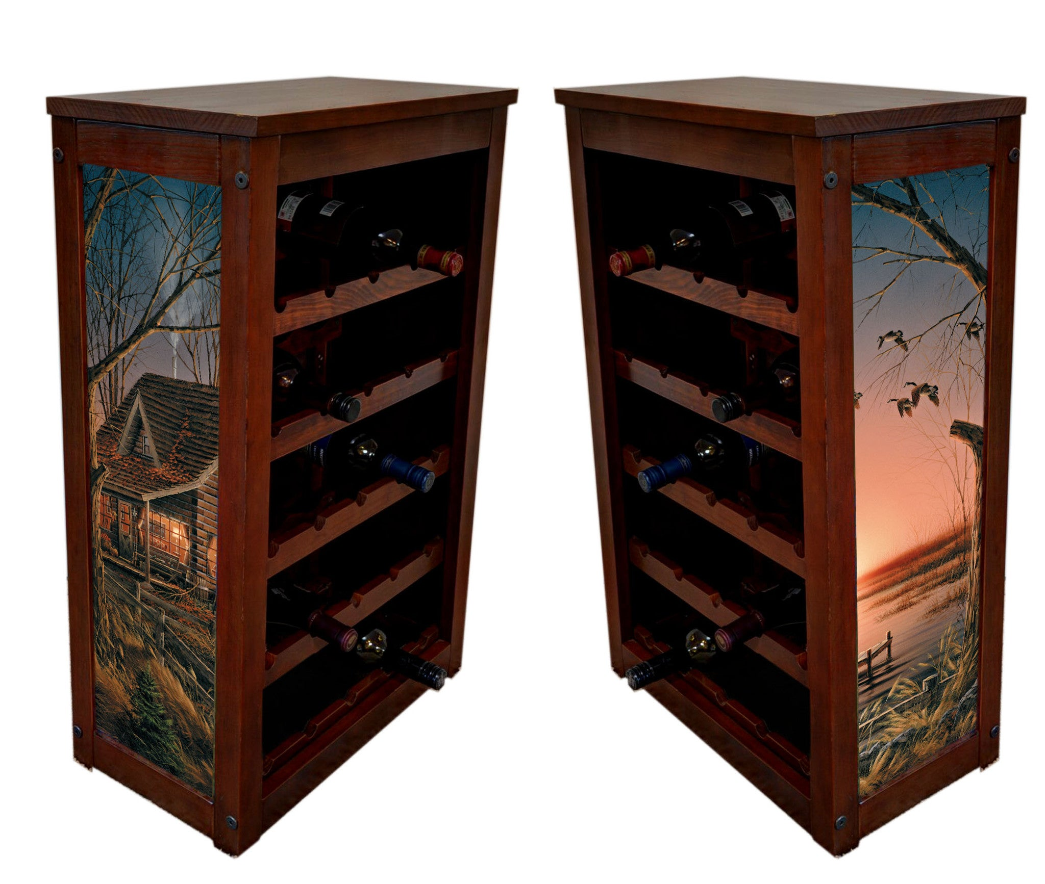 Terry Redlin's Comforts of Home wine cabinet
