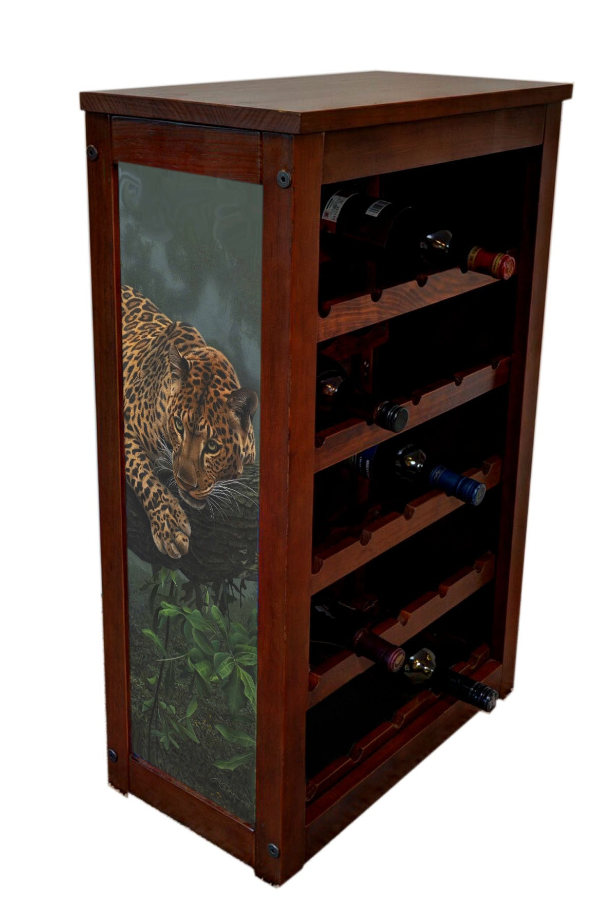 Leopard Wine Rack | Leopard in Tree by Adam Smith