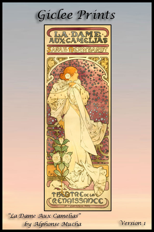 Giclee Print • La Dame by Mucha  Version 1